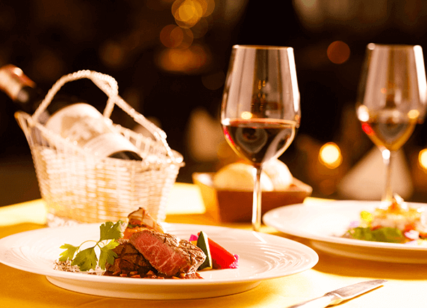 <Top Seller> [Half Board] Enjoy Full-Course Dinner of Excellent French Cuisine and Natural Hot Spring